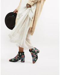 Vero Moda - Paisley Print Ankle Boots - Lyst