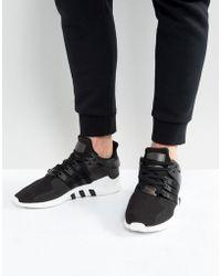 quality design a5120 f65c1 adidas Originals Eqt Support Advance Trainers In Black ...
