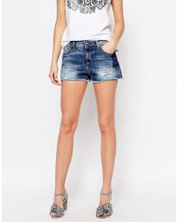 Vivienne Westwood - Denim Shorts With Distressing - Lyst