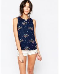 Sugarhill - Ugarhill Boutique Top In Summer Flowers Print - Lyst