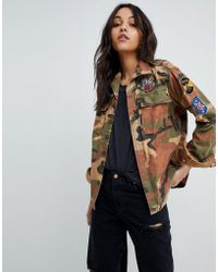 Replay - Camo Jacket With Patches - Lyst