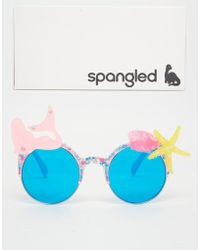 Spangled - Pangled Mermaid And Shell Sunglasses In Pink - Lyst
