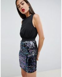 AX Paris - 2-in-1 Dress With Sequin Skirt - Lyst