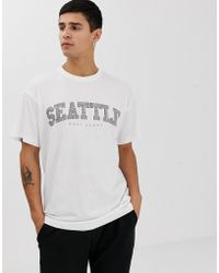 New Look - Seattle Print T-shirt In White - Lyst