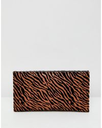 ASOS - Foldover Ladies' Wallet In Tiger Print - Lyst