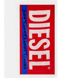 DIESEL - Serviette de plage à logo - Rouge - Lyst