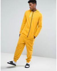 ASOS | Onesie In Yellow | Lyst