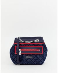 Love Moschino - Shoulder Bag With Denim Mix - Lyst