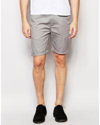 ASOS - Skinny Chino Shorts In Grey - Lyst
