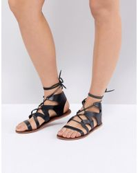 Warehouse | Leather Gladiator Sandals | Lyst