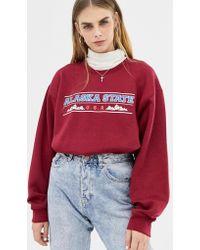 Daisy Street - Boyfriend Sweatshirt With Vintage Alaska State Graphic - Lyst