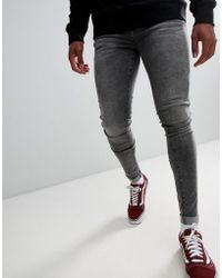 Dr. Denim - Leroy Super Skinny Jeans In Boulder Grey - Lyst