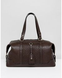 Dune - Mandleson Holdall In Brown - Lyst