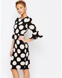 Coast - Maralynn Textured Spot Dress In Blush - Lyst