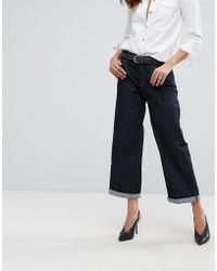 Replay - Basinkim Turn Up Wide Leg Jean - Lyst