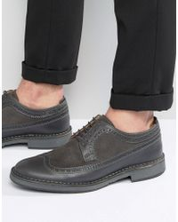 SELECTED - Ronald Leather Brogue Shoes - Lyst