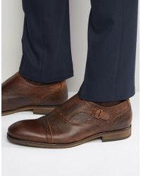 SELECTED - Bolton Leather Monk Shoes - Lyst