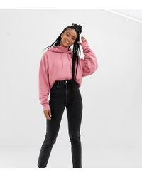 Collusion - Slim Mom Jeans In Washed Black - Lyst