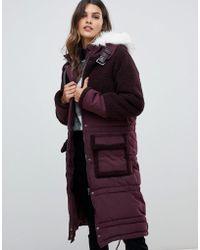 Urbancode - Parka con bordi in montone tono su tono e cappuccio in pelliccia sintetica - Lyst