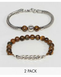 ALDO | Beaded Bracelets In 2 Pack | Lyst