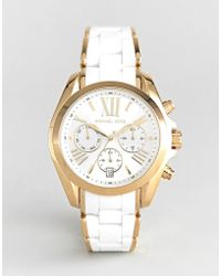 Michael Kors - Mk6578 Bradshaw Watch With Silicone & Metal Strap - Lyst