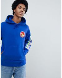 47f5c398 Tommy Hilfiger - 90s Sailing Capsule Back And Sleeve Logo Hoodie In Bright  Blue - Lyst