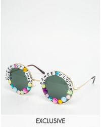 Rad & Refined - Queen Of The Dance Floor Round Sunglasses - Lyst