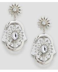 ASOS - Statement Jewel Earrings - Lyst
