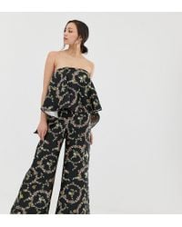 ff1c40e424b ASOS - Asos Design Tall Jumpsuit With Structured Overlay In Floral Print -  Lyst