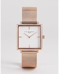 Elie Beaumont - Eb818.4 Watch With Rose Gold Case And Mesh Strap - Lyst