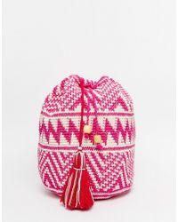 Hiptipico - Handmade Crochet With Beaded Tassel Backpack - Lyst