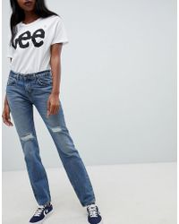 Lee Jeans - 90s Rider Jean With Abrasions - Lyst