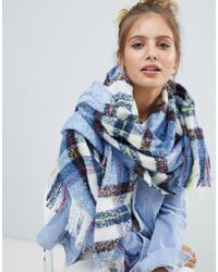 Monki - Check Scarf - Lyst
