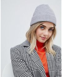 New Look - Beanie In Gray - Lyst