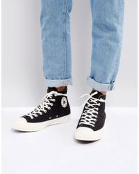 2317075e3cd Converse - Chuck Taylor All Star  70 Hi Felt Sneakers In Black 157481c -  Lyst