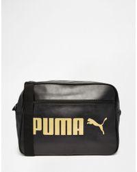 PUMA - Campus Messenger Bag In Black 7384301 - Lyst
