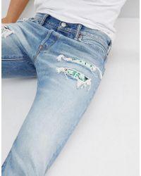 Levi's - Levi's Original 501 Jeans Hawaiian Rip & Repair - Lyst