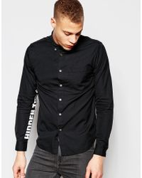 Izzue - Shirt With Printed Sleeves In Regular Fit - Lyst