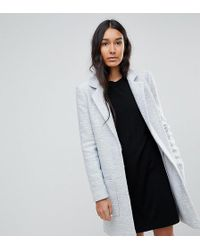 ASOS - Asos Design Tall Slim Coat In Texture - Lyst