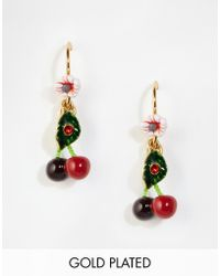 Les Nereides - Cherry Drop Earrings - Lyst