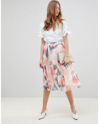 Y.A.S - Printed Full Skirt Co-ord - Lyst