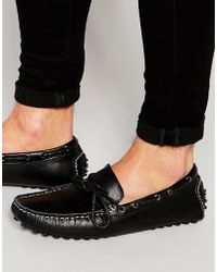Bellfield - Driving Loafers In Black Leather - Lyst