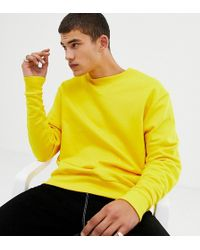Collusion - Tall Oversized Sweatshirt In Yellow - Lyst