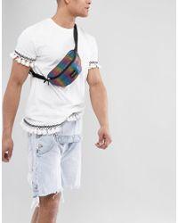 ASOS - Design Festival Bum Bag In Rainbow - Lyst