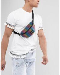 ASOS - Festival Bum Bag In Rainbow - Lyst