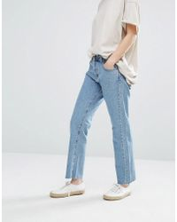 Current/Elliott - Current Elliott Original Straight Leg Jeans With Raw Hem - Lyst