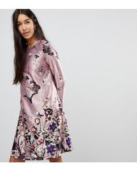 Y.A.S - Floral Mini Dress In Pink - Lyst