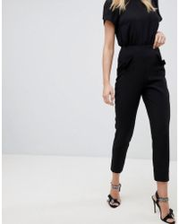 Oasis - Frill Pocket Tailored Trousers - Lyst