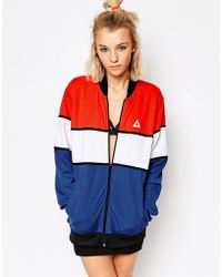 Le Coq Sportif - Colour Block Bomber Jacket - Lyst