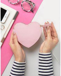 Lulu Guinness - Heart Coin Purse - Lyst